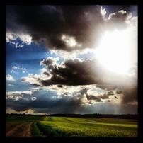 Západ slunce nad Ostravou. Jojo, někdy to šlo:-)