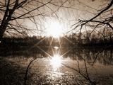 Západ slunce na konci ledna.