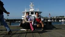 Naše loď, kterou se vypravíme za chvíli na velryby...