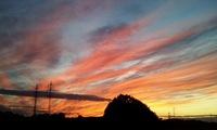 Západ slunce u Jistebníka.