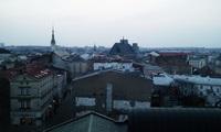 Večerní pohled na Olomouc s únorem také souvisí:-)