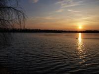 Západ slunce na hrázi Bezruče. Lepší než Kalousek, ne?