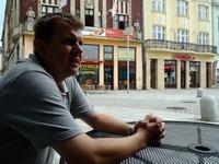 Výhled na  Pivka ze zahrádky pizzerie Astoria.