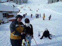 Lyžovačka v Kapplu, Lenča, Ráďa, Baras a neznámý snowbordelista.