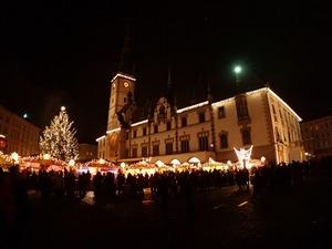 Noční Olomouc.