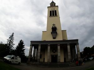 Kostel sv. Cyrila a Metoděje v Hejčíně.